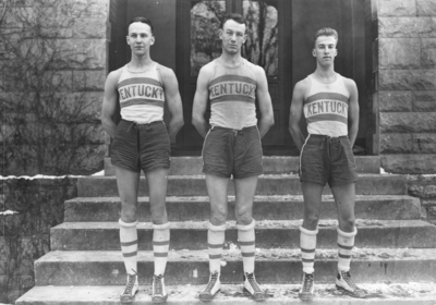 Three members of  men's basketball team, 1920-1921 season, see 1921 Kentuckian