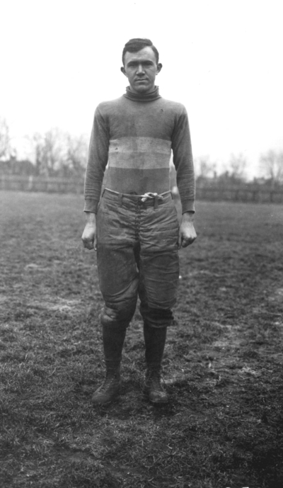 Unidentified Kentucky football player