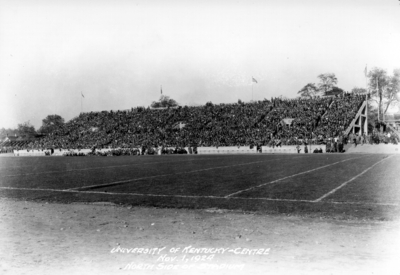 Football game, Kentucky vs. Centre College, (Stoll Field and McLean Stadium), north side of stadium