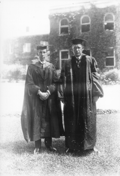 Two unidentified men, Commencement
