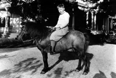 Unidentified boy on pony