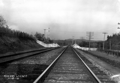 Stretch of track annual inspection, railroad tracks