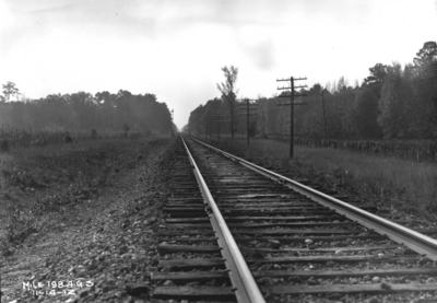 Stretch of Track, annual inspection, mile 198