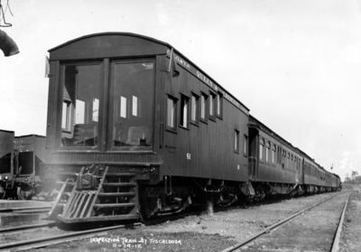 Inspection train at Tuscaloosa, Alabama