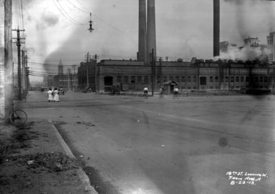 Eighteenth street crossing and Avenue A, looking west, Birmingham grade elimination, Birmingham, Alabama