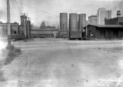 Nineteenth street crossing and Avenue A, looking west, industrial area, Birmingham grade elimination, Birmingham, Alabama