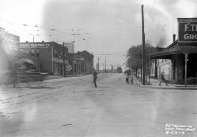Twenty-second street looking west from Avenue B, Birmingham grade elimination