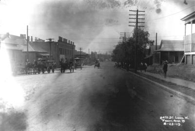 Twenty-fourth street looking west from Avenue B, Birmingham grade elimination, Birmingham, Alabama