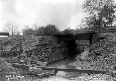 Railroad bridge, east track