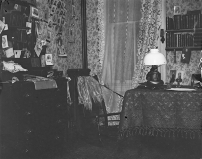 interior of a room, possibly a dorm room in Patterson Hall
