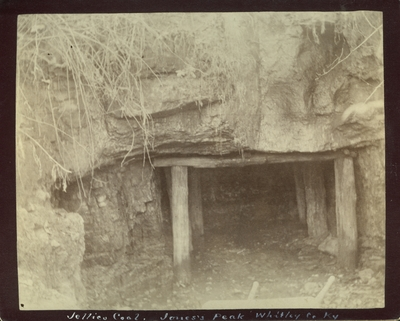 Entrance to a Jellico coal mine at Jones Knob in Whitley County, Kentucky