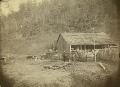 Unidentified people on the land of Bert Hutchinson in Elliot County, Kentucky