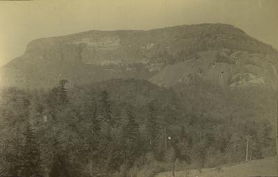 View of Whiteside Mountain at Highlands, Macon County, North Carolina