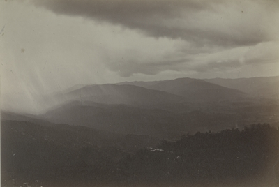 View of a rain storm from an unidentified Pinnacle