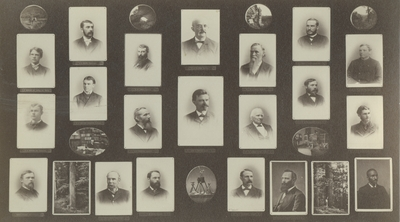 Image of portraits of the members of the Kentucky Geological Survey of 1885