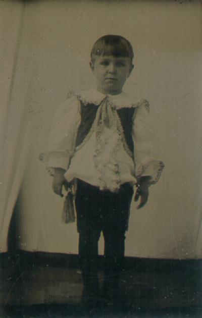 Boy in fancy outfit