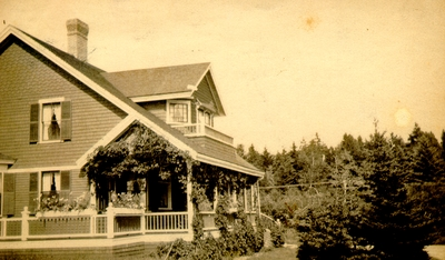 Two-story house near forested area