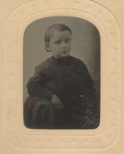 Young boy with black clothing