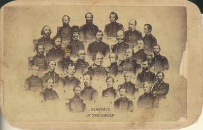 Mass produced composite of thirty U.S.A. General from the Civil War