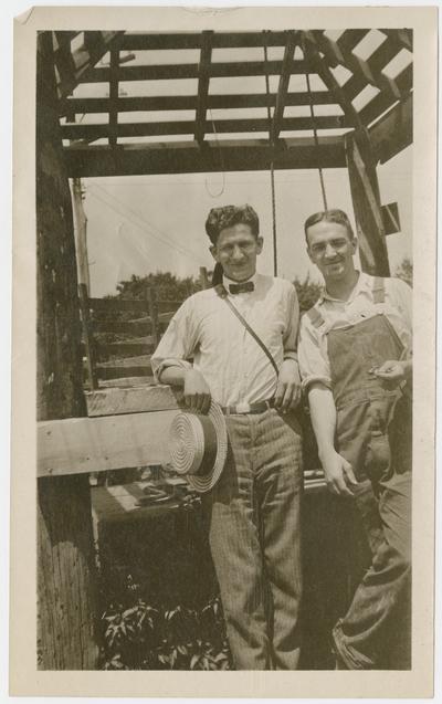 W. Hugh Peal, Herbert [Flash] Covington, Bandana, Kentucky, summer