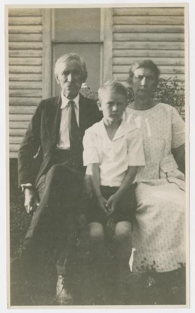J. S. Peal, Sr., Hilsen Peal, Mrs. J. S. Peal, Sr., Oak Grove, La Center, Kentucky
