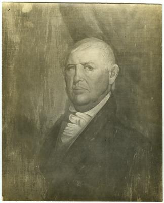 Colonel Isaac Shelby (1750-1826), first Governor of Kentucky;                              Portrait owned by Col. Garrett. Isaac Shelby. noted on back of image