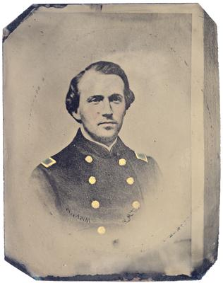 Brigadier General John Hunt Morgan C.S.A.; Morgan in uniform as a lieutenant in the Mexican-American War (1846-1848) (reproduction of unknown earlier image)