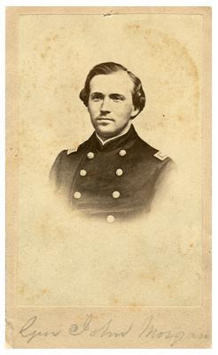 Brigadier General John Hunt Morgan C.S.A.; Morgan in uniform as a lieutenant in the Mexican-American War (1846-1848) (Civil War era reproduction of unknown earlier image)