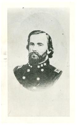 Brigadier General John Hunt Morgan C.S.A.; Morgan in uniform as a brigadier general, reproduction print