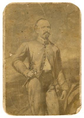 Brigadier General John Hunt Morgan C.S.A.; Morgan in uniform, reproduction of a painting