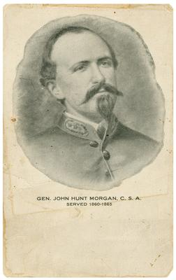 Brigadier General John Hunt Morgan C.S.A.; Morgan in uniform, reproduction of a painting