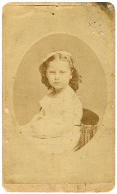 Lizzie Howard (?-?), handwritten on back in ink                              Lizzie Howard / Baltimore / Md. / 1873