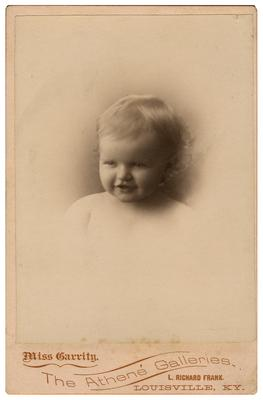 Unidentified infant; removed from pg. 8 of album