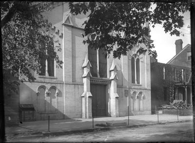 Hill Street Methodist Church; exterior                          Hill St // Methodist // Church // Hill St. Church handwritten on envelope