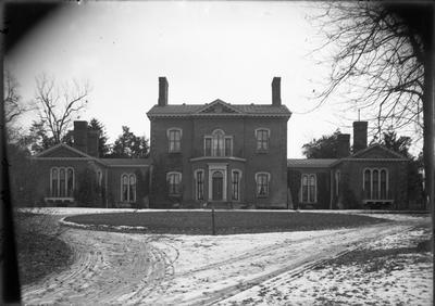 Henry Clay's estate, Ashland, exterior;                          Ashland handwritten on envelope