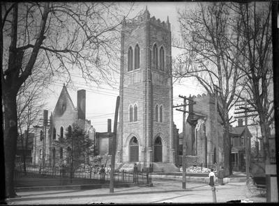 Calvary Baptist Church ruins;                          Mch 15. 1907 // Calvary Baptist Church Ruins handwritten on envelope