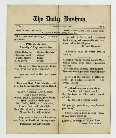 The Daily Bushwa German-English highschool newspaper
