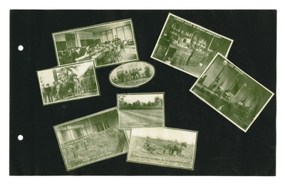 (8) labeled photographic prints: