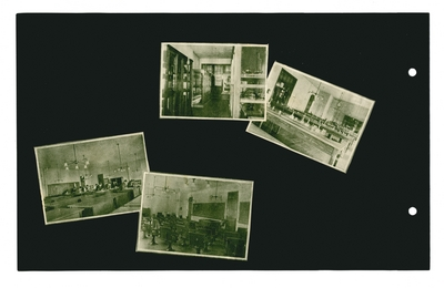 (4) photographic prints showing classrooms and laboratories