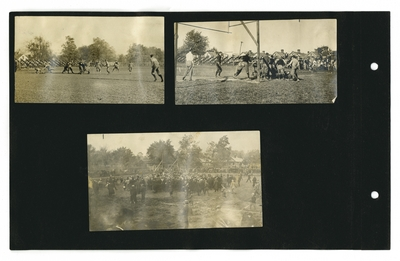 (3) photos of a football game
