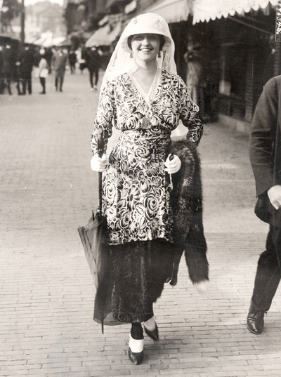 Mrs. Alexander Pratt at the Newport, RI, annual Horse Show
