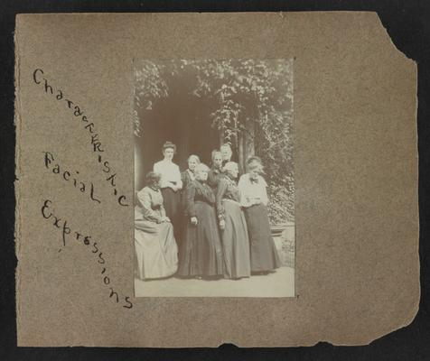 Handwritten title on album page: Characteristic Facial Expressions