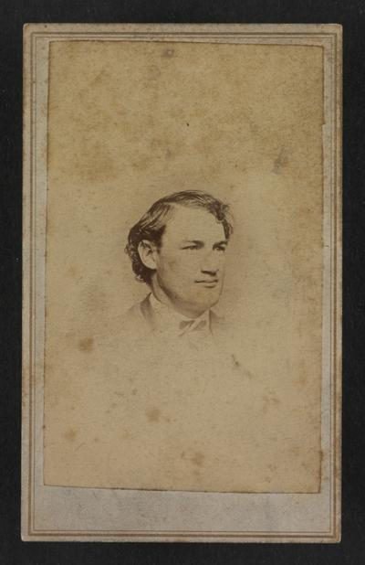 Unknown man, photograph by J.P. Sharman