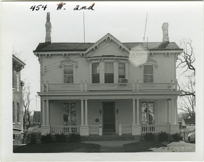 454 West 2nd [Second] street. Remodeled in late 19th century