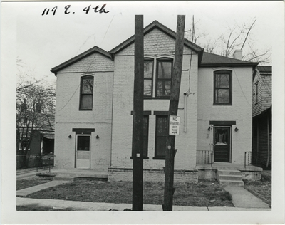 119 East 4th [Fourth] street. Purchased by Robert McNitt in 1814. Remodeled into a double house for Francisco Wolf after 1870