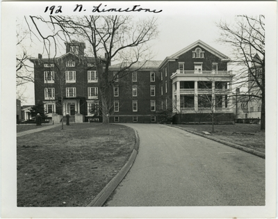 192 North Limestone. Thomas Lewinskyi built residence for Edward P. Johnson in 1846-47. Purchased by David A. Sayre in 1855, opened in 1857 as Sayre Female Institute. Dormitory added in 1908, gymnasium in 1963, and library in 1973