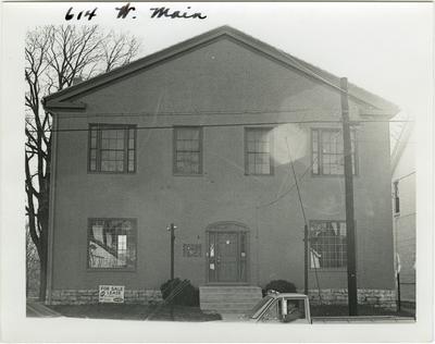 614 West Main street. Harrison school, built in 1849