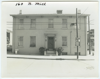 160 North Mill street. Owned by Dr. Benjamin W. Dudley from 1818-52