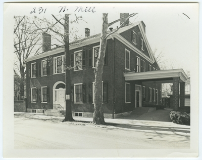 231 North Mill street. Mount Hope. Built for General John M. McCalla after 1819. Sold to Benjamin Gratz in 1824
