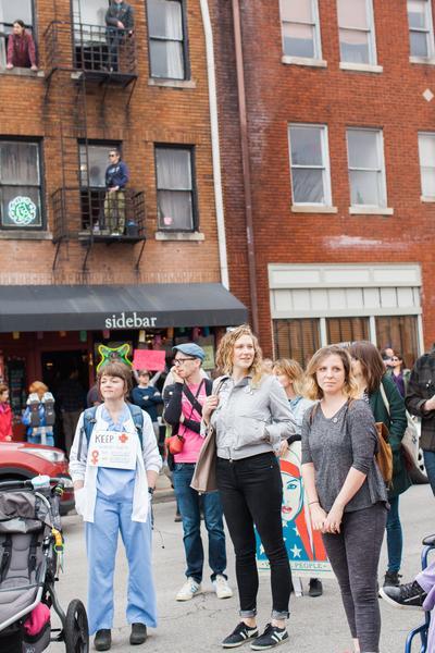 Women's March in Lexington, Kentucky, photographs taken by Emily Moseley